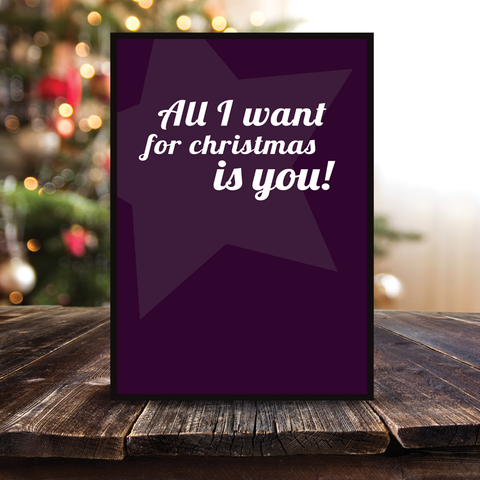 Grafisk plakat - graphic design poster - all I want for christmas - posterboy.dk