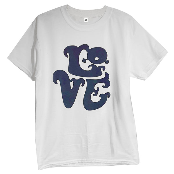 70's LOVE T-SHIRT in WHITE