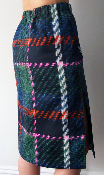A PRINTED WARDROBE CUT-AND-SEW TWEED SKIRT