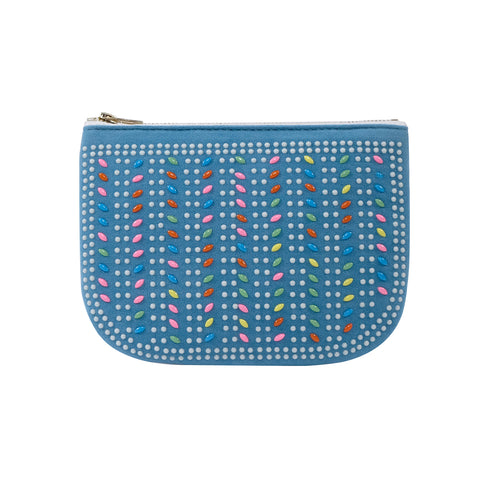 PLAY PURSE BEADED POUCH BLUE