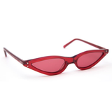 GEORGE KEBURIA RED MICRO CAT EYE SUNGLASSES