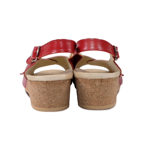 WORISHOFER 562 RED LEATHER SLINGBACK SANDALS