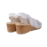 WORISHOFER 562 WHITE LEATHER SLINGBACK SANDALS