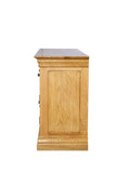 French Oak Large 2 Door 5 Drawer Sideboard