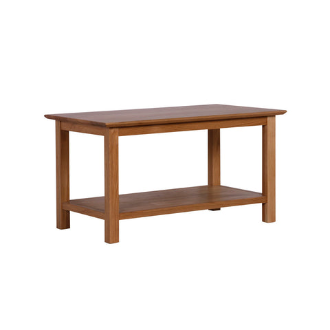 New Oak Coffee Table With Shelf Direct Furniture Land