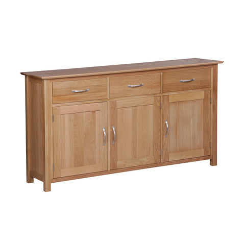 New Oak Large 3 Door 3 Drawer Sideboard