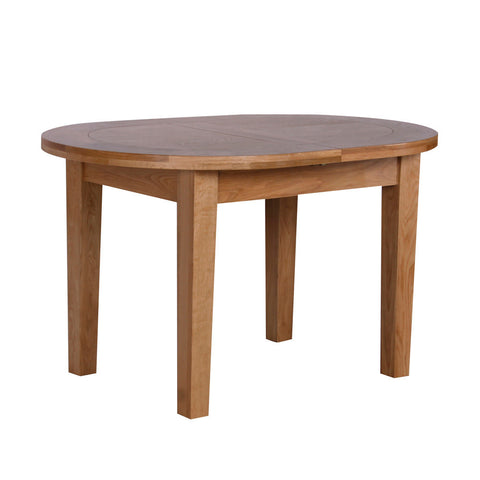 New Oak D End Oval Extending Dining Table