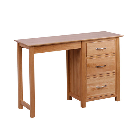 New Oak Single Pedestal Dressing Table