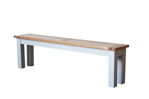 Painted Oak 1.6m Bench