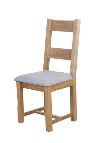 Painted Oak Dining Chair With Fabric Seat Pad