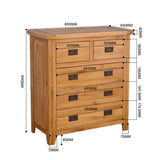 Rustic Oak 2 Plus 3 Chest Of Drawers