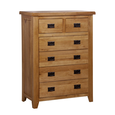 Rustic Oak 2 Plus 4 Chest Of Drawers