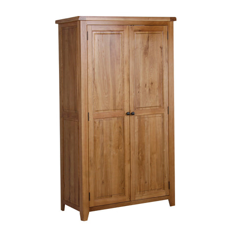 Rustic Oak All Hanging Double Wardrobe