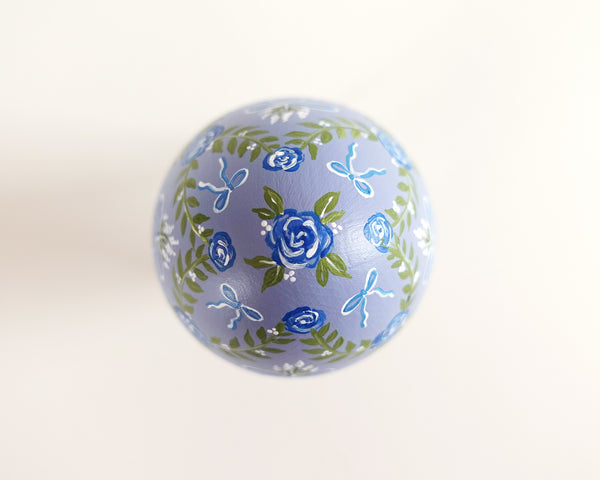Blue Bows & Roses Heirloom Egg