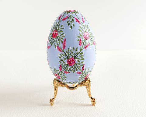 Soft Blue Rose Lattice Heirloom Egg