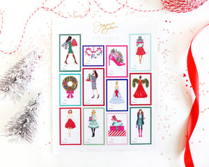 Fashion Holiday Gift Label Stickers