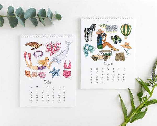 Favorite Things 2021 Illustrated Monthly Wall Calendar