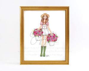Garden Goals Fashion Illustration Art Print
