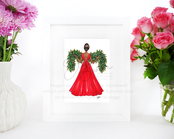 Garland Gown Fashion Illustration Art Print