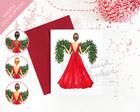 Garland Gown Fashion Holiday Card - Semi-Custom