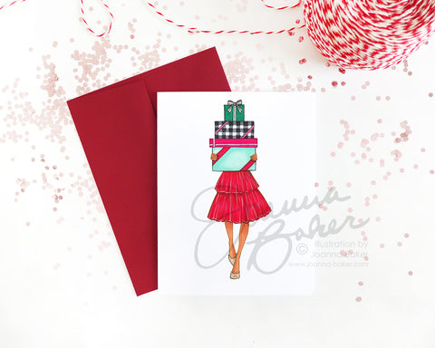 Holiday Merry Gifter Fashion Holiday Card