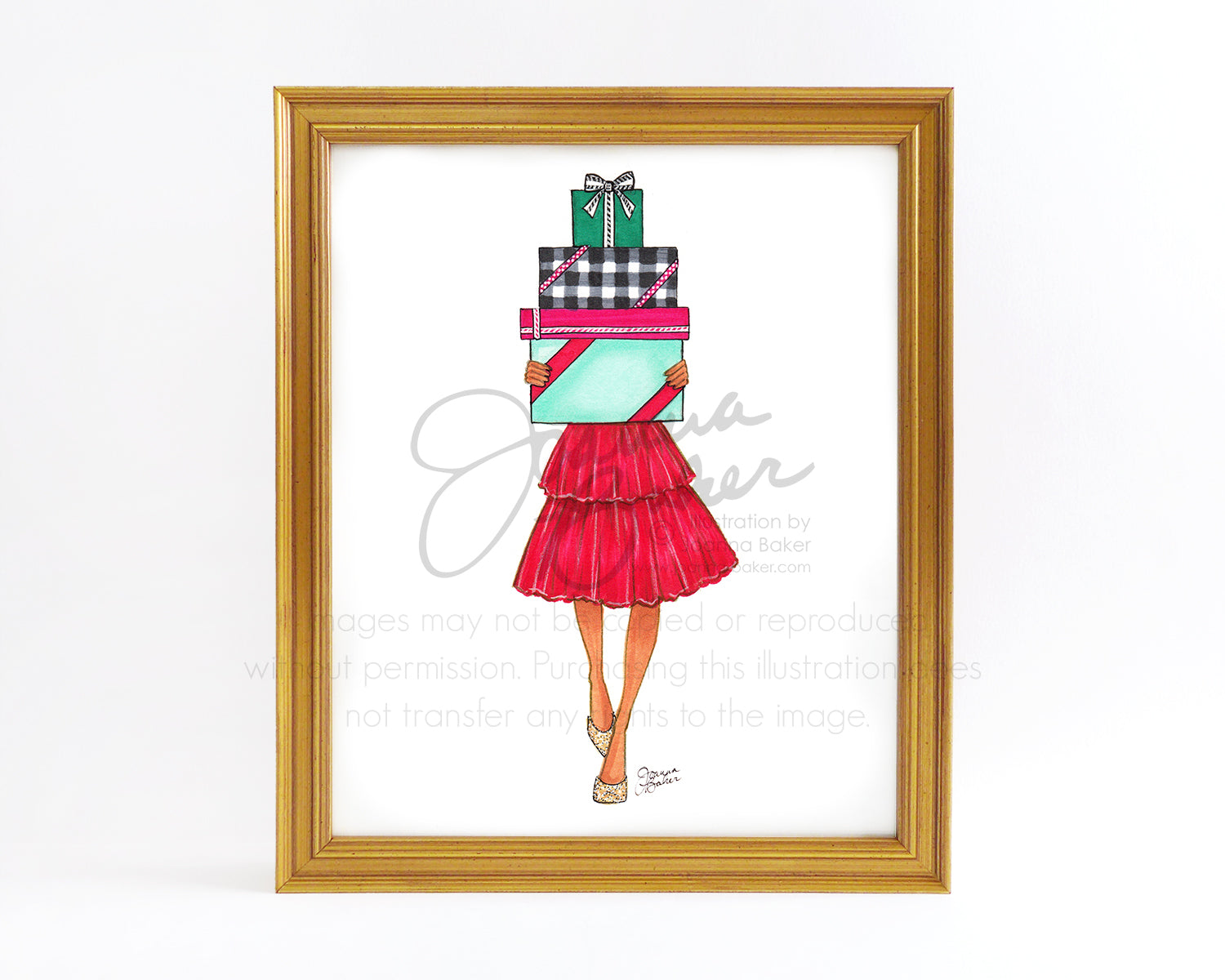 Holiday Merry Gifter Fashion Illustration Art Print