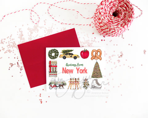 Christmas in New York Holiday Greeting Card