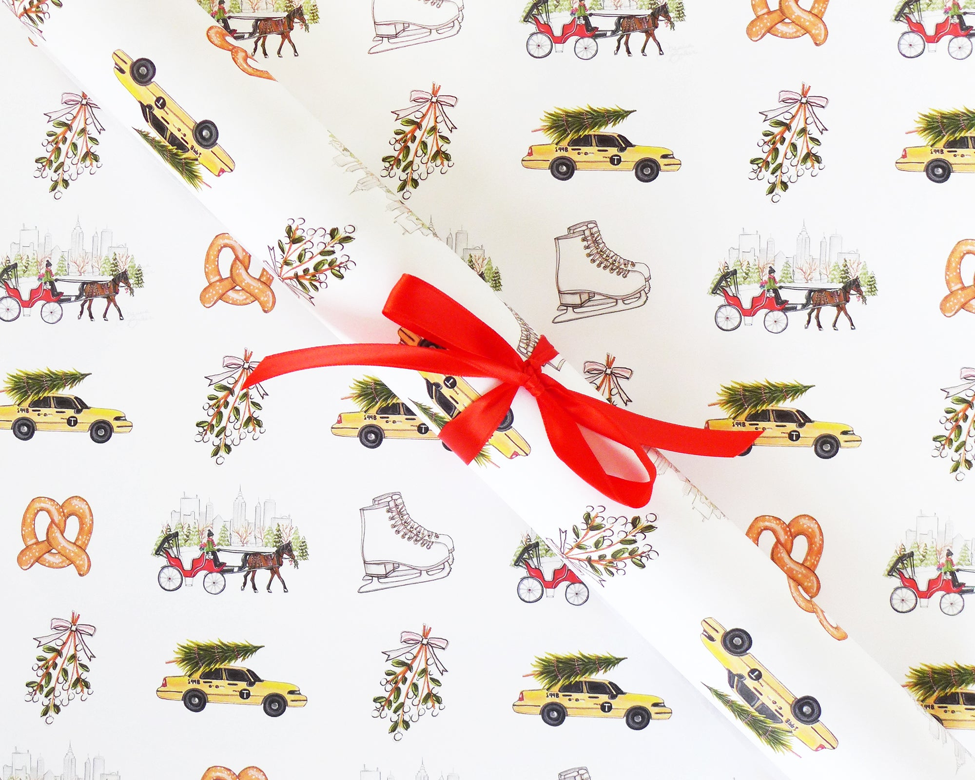 Christmas in New York Gift Wrap Sheets