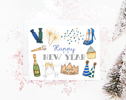 New Year's Favorite Things Fashion Greeting Card