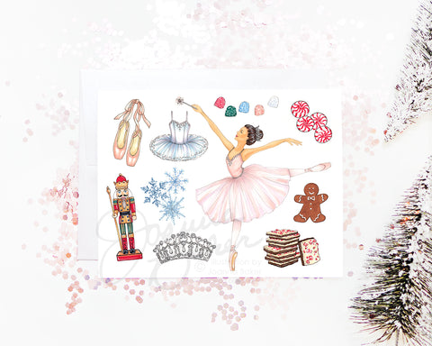 Nutcracker Ballet Holiday Greeting Card