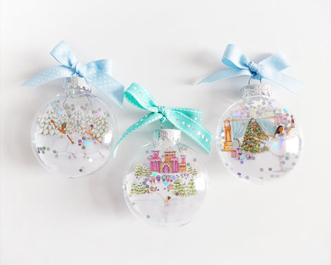 Nutcracker Glitter Ornament Christmas Gift Set