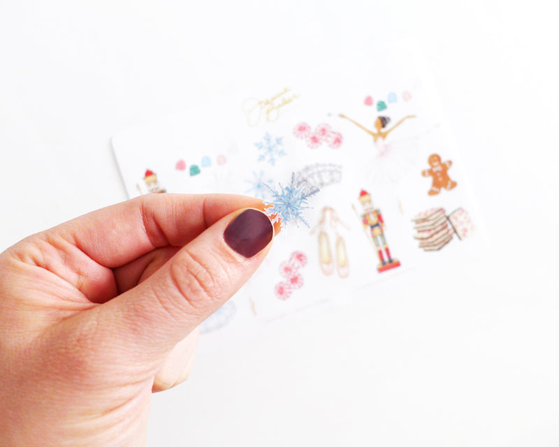 Nutcracker Ballet Holiday Stickers