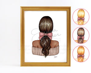The Perfect Pony Fashion Illustration Art Print