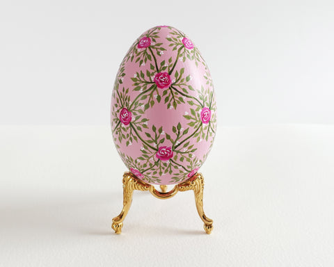Pink Rose Lattice Heirloom Egg