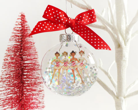 Holiday Dancers NYC Glitter Christmas Ornament