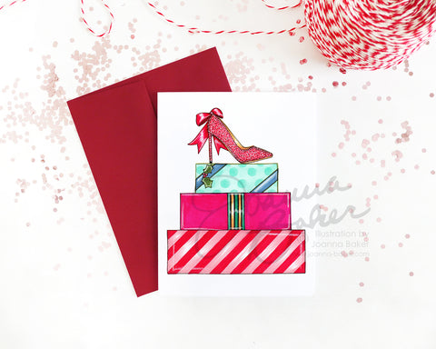 The Gift of Shoes Fashion Holiday Greeting Card