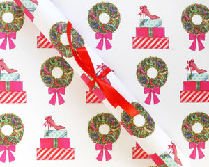 Holiday Shoes Gift Wrap Sheets