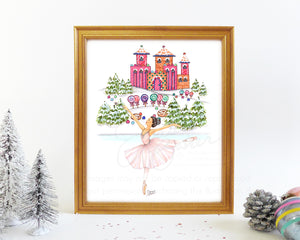 Sugar Plum Fairy Land of Sweets Fashion Illustration Art Print