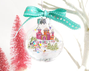 Sugar Plum Fairy Glitter Christmas Ornament