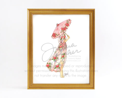 Summer Daze Fashion Illustration Art Print