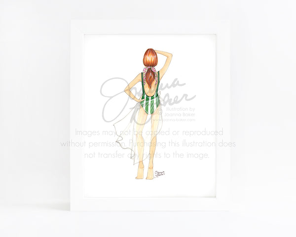 Sunny Days Ahead Fashion Illustration Art Print