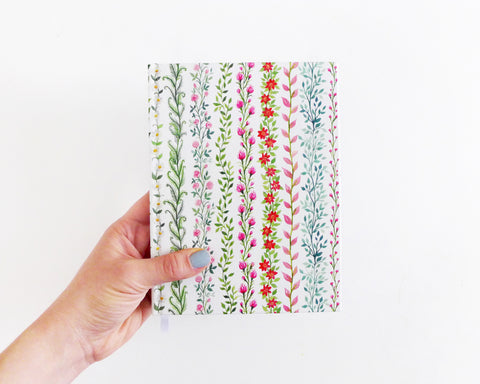 Watercolor Vines Journal