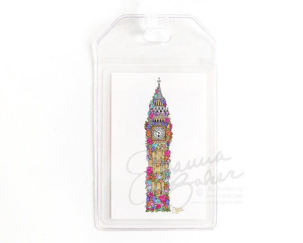 London Flowers Luggage Tag
