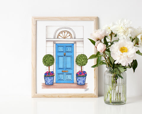 Spring Dream Home Illustration Art Print