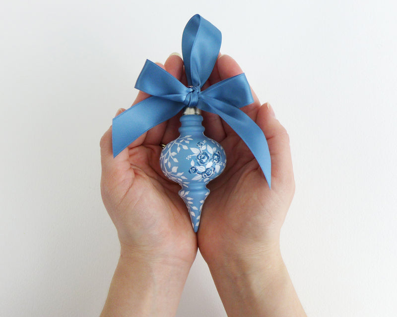 Blue Rose Bouquet Heirloom Ornament