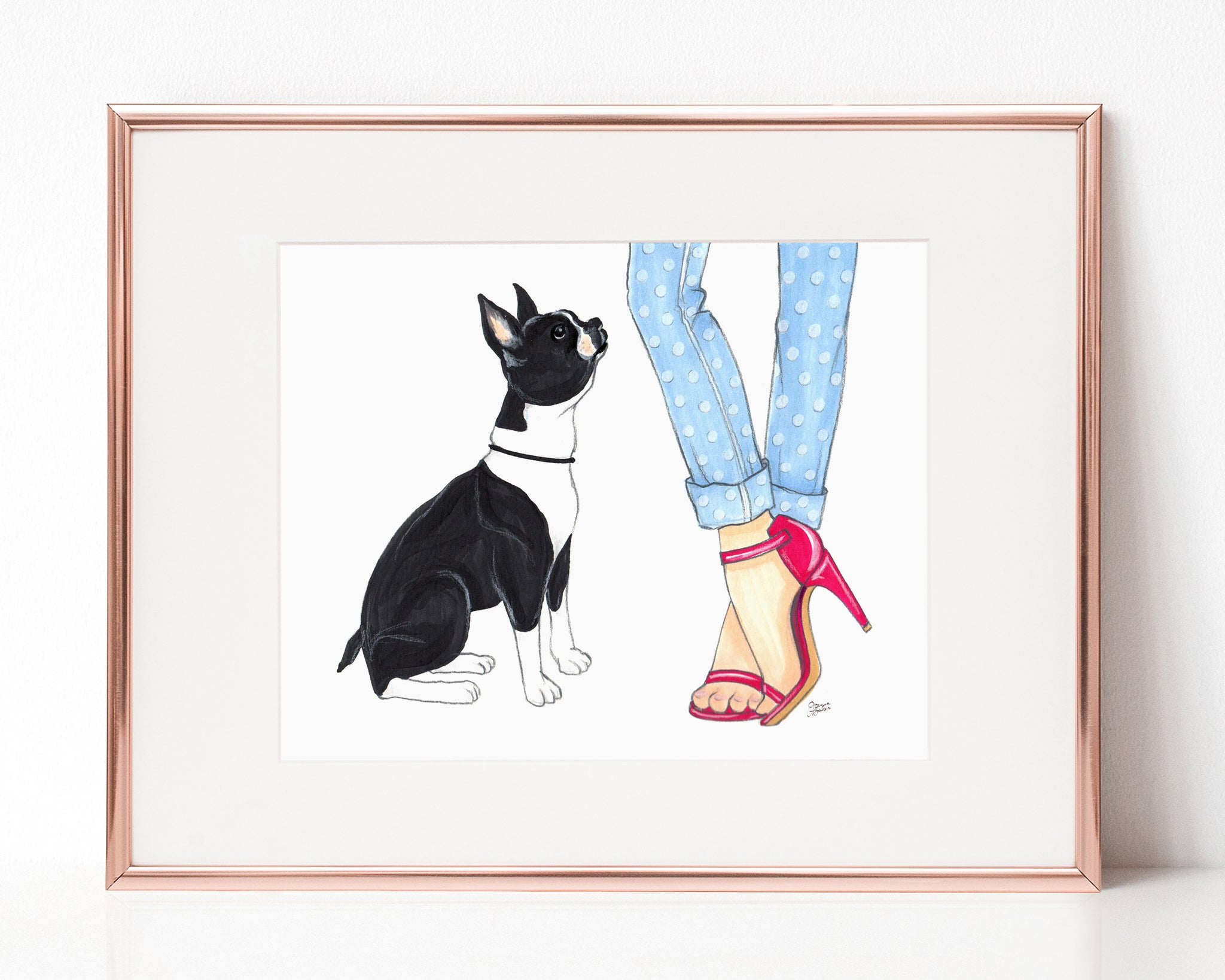 Mardy the Boston Terrier Art Print