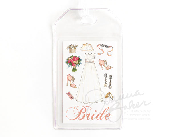 Wedding Luggage Tag for the Bride