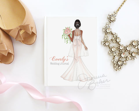 Semi-Custom Blushing Bride Wedding Journal / Note Book / Guestbook
