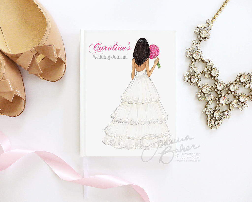 Semi-Custom Tiered Gown Bride Wedding Journal / Note Book / Guestbook