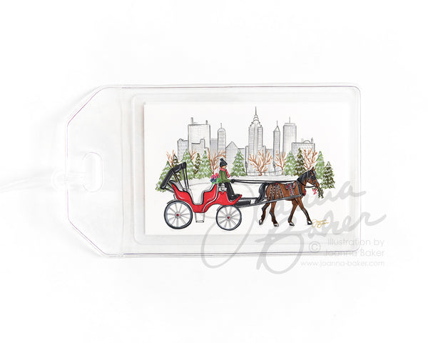 Central Park Carriage Ride NYC Luggage Tag